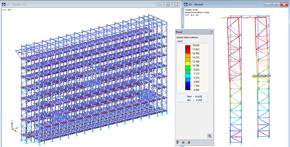 RFEM rekenmodel van een stelling door NEDCON Magazijnstellingen