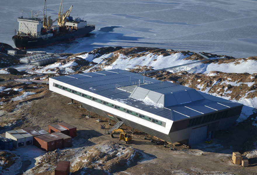 Antarctisch Onderzoeksstation berekend en gecontroleerd met rekensoftware van RFEM