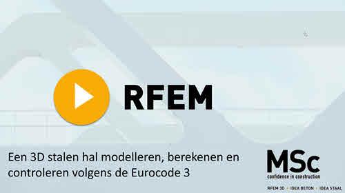 Een 3D stalen hal modelleren, berekenen en controleren volgens de Eurocode 3