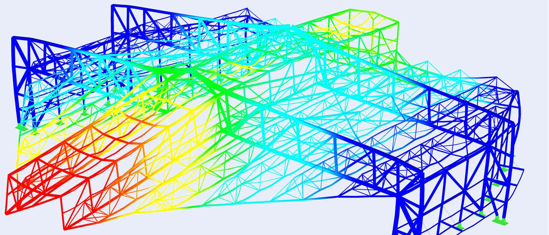 Schallschutzhall vervormingen staalconstructie_(C)www.wtm-engineers.de
