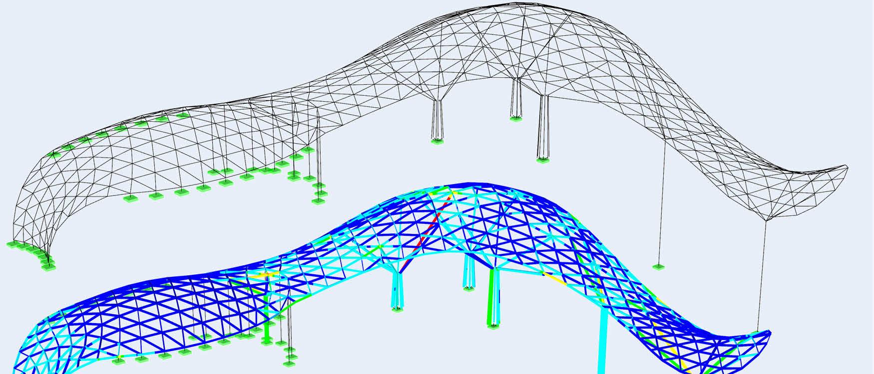 Shanghai Center model in rekensoftware RFEM (C)www.novumstructures