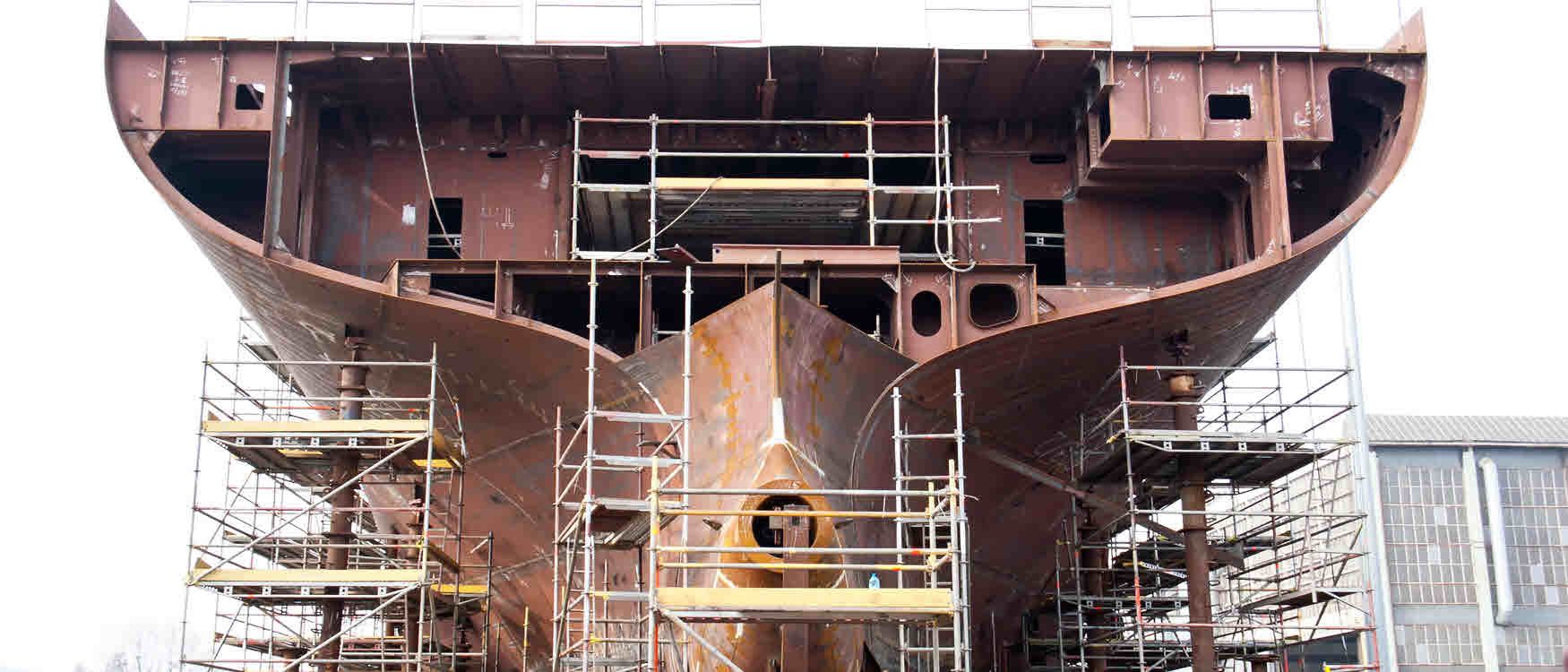 scheepsbouw -scheepsromp doorsnede berekenen RFEM rekensoftware